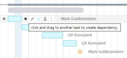 Tilføj afhængigheder mellem opgaverne i din projektplan