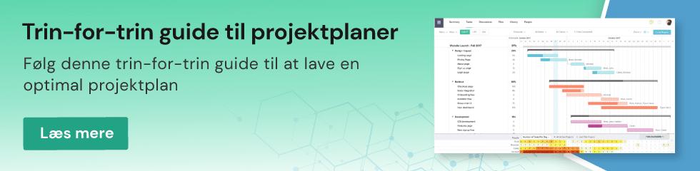 Projektplanlægning med TeamGantt